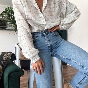 [Vintage] button-down blouse